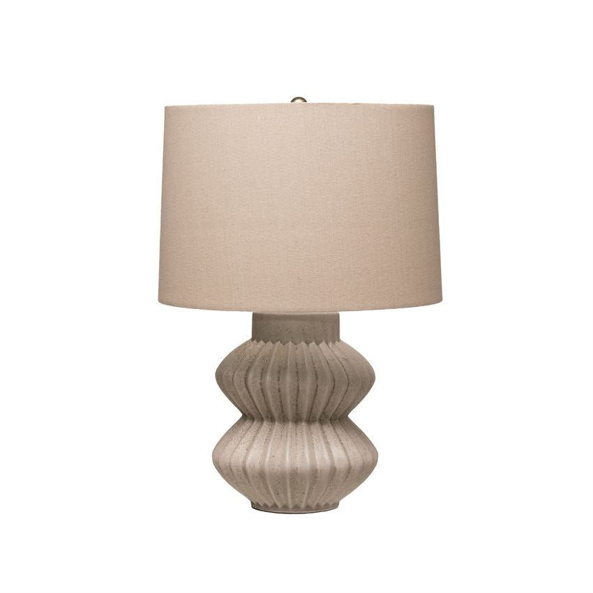 Fluted Terra Cotta Lamp