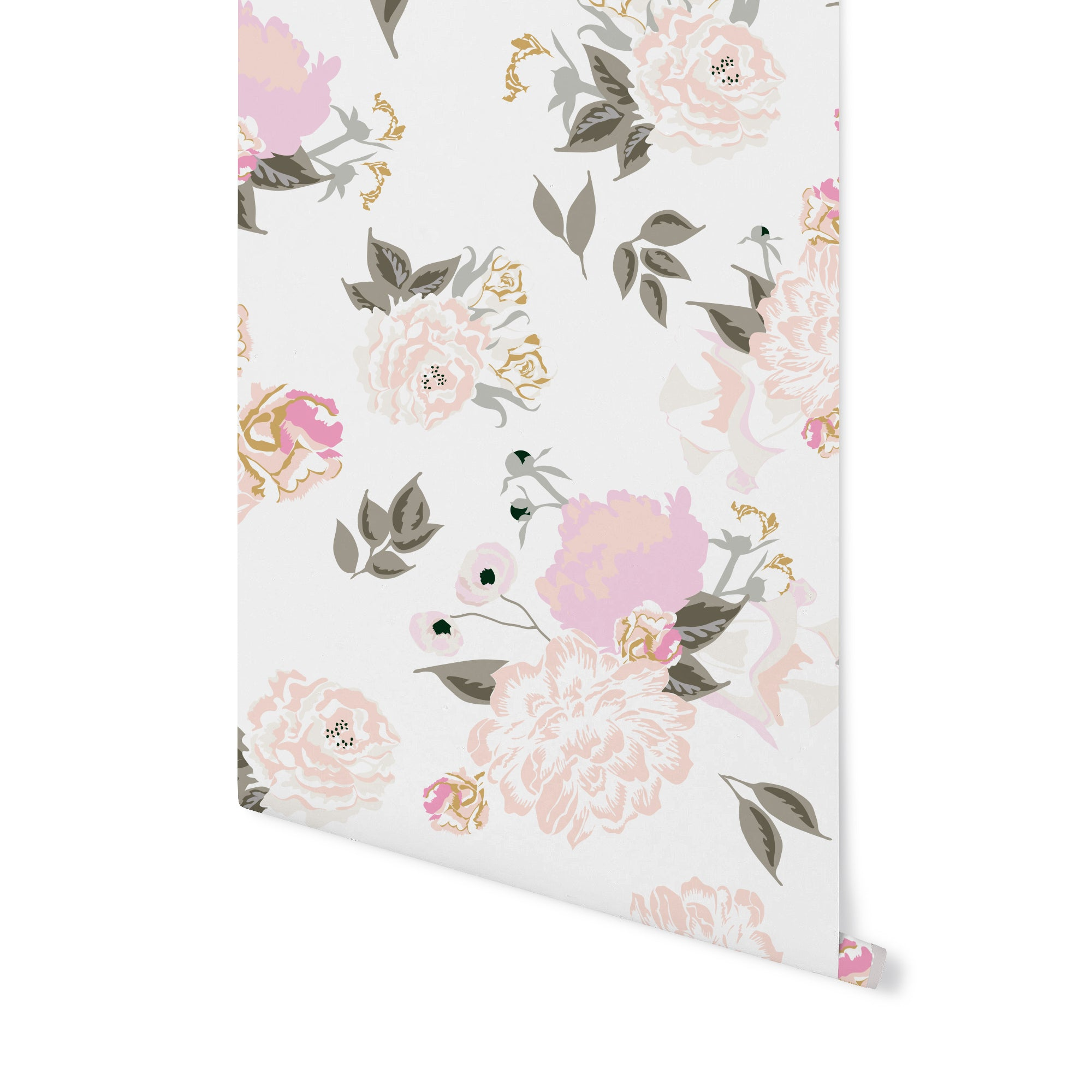 Vivienne Floral Wallpaper Blush Stagg Design Shop