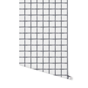 Chase Plaid Wallpaper - Charcoal