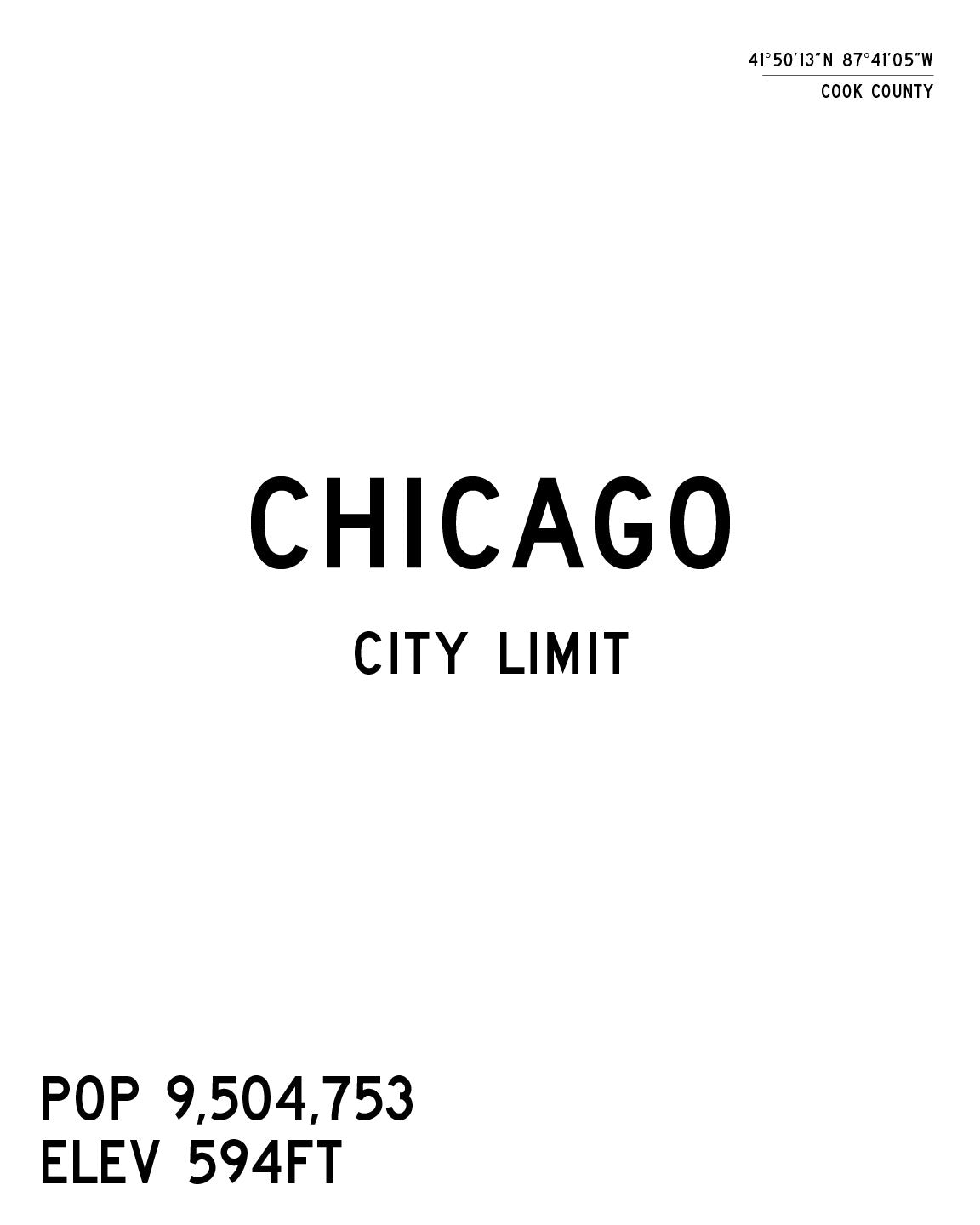 Chicago City Limits Art Print