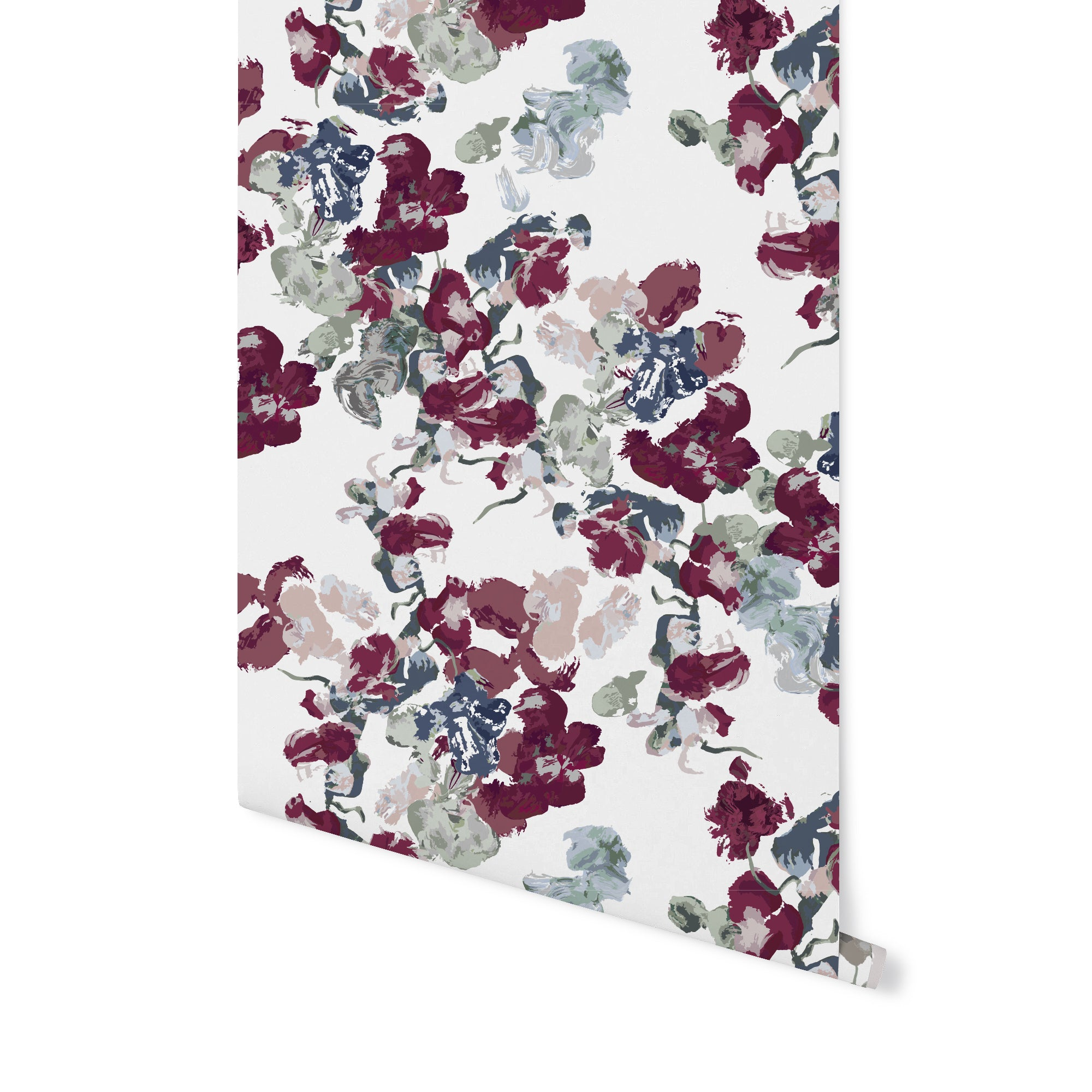 Anna Floral Wallpaper Currant Stagg Design Shop