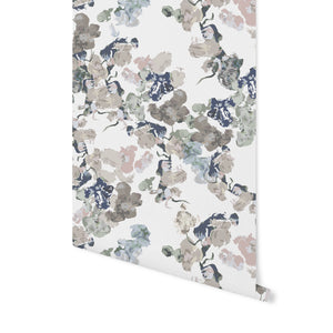 Anna Floral Wallpaper - Dusty Pink