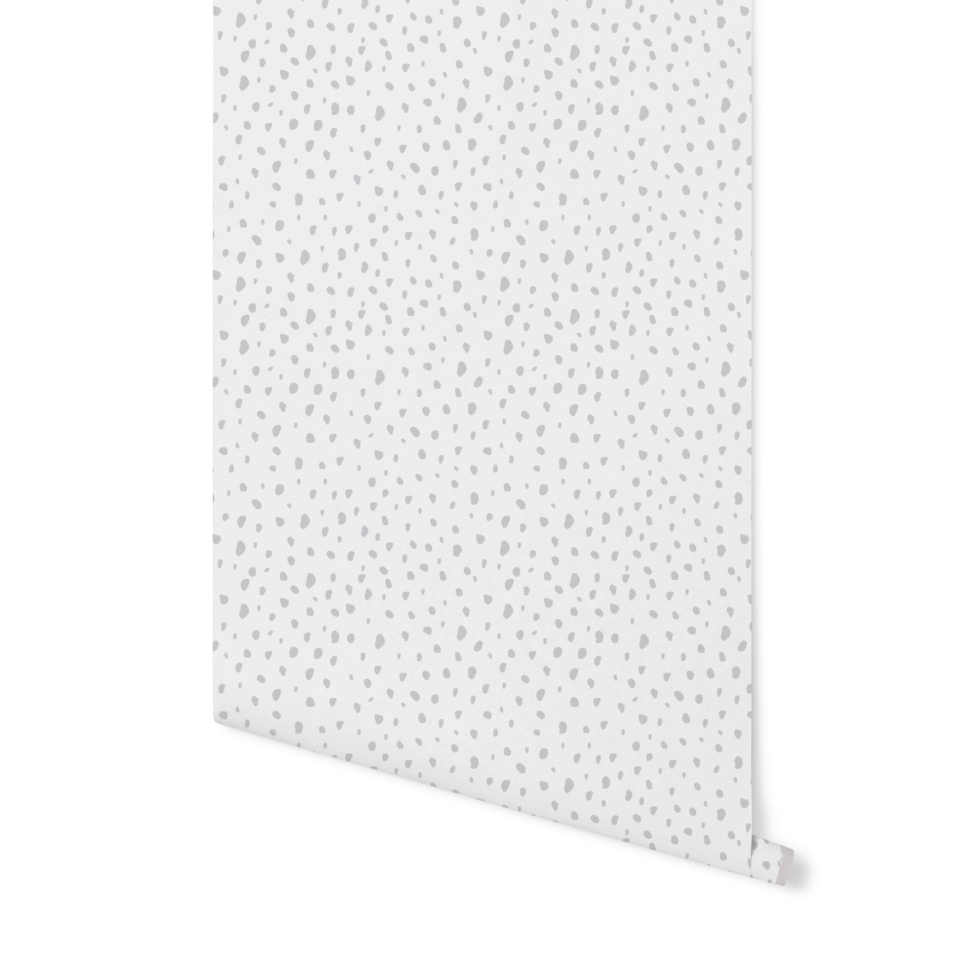 Modern Dot Wallpaper - Grey on White