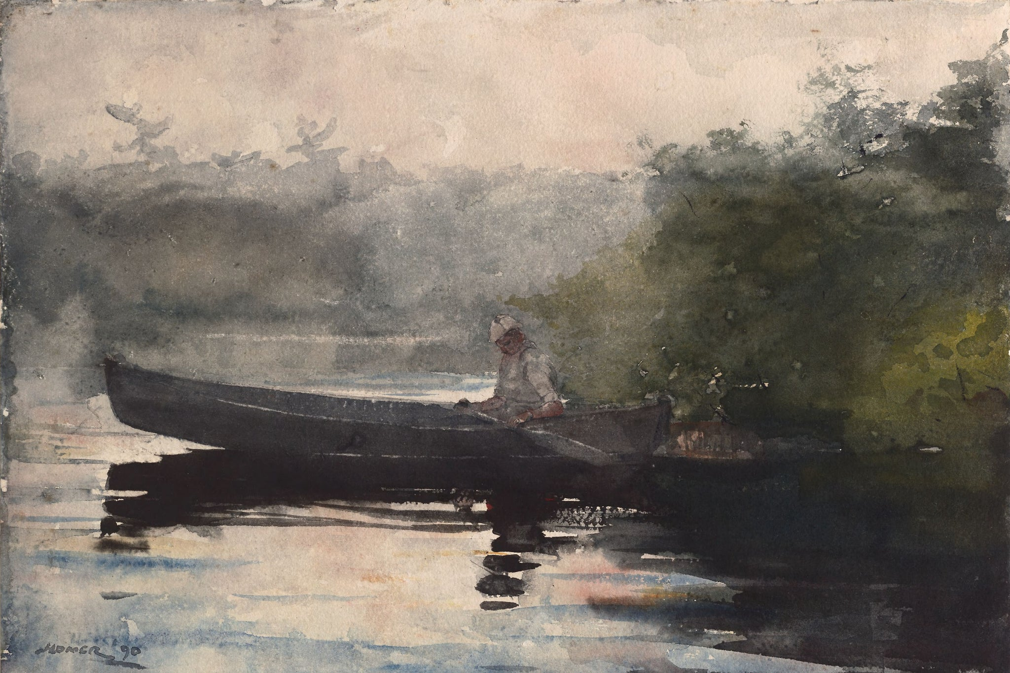 Misty Morning Row Vintage Art Print