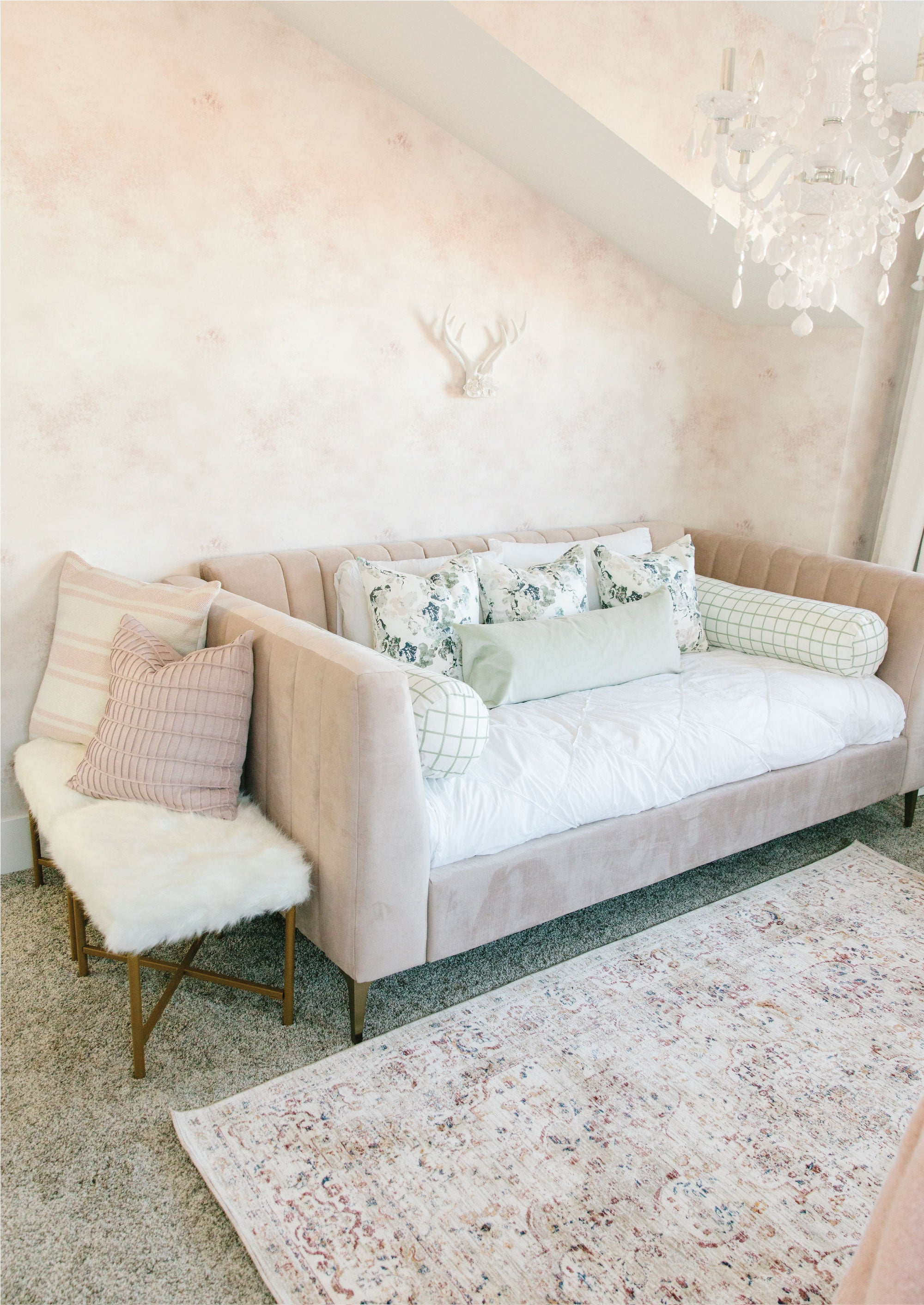 Brume Wallpaper - Dusty Pink