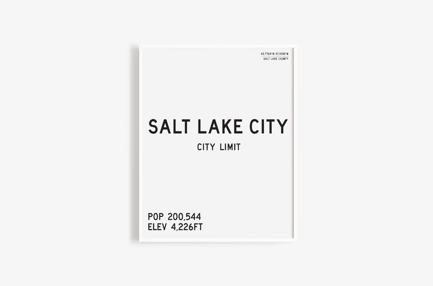 Salt Lake City Limits Art Print