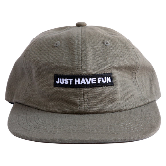 Just Have Fun Unstructured Box Logo (Olive)