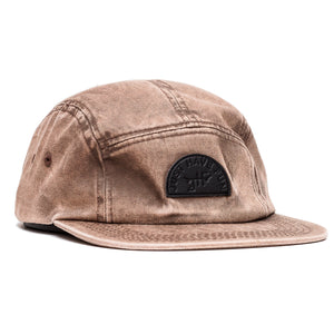 Snow Wash Strapback in Brown