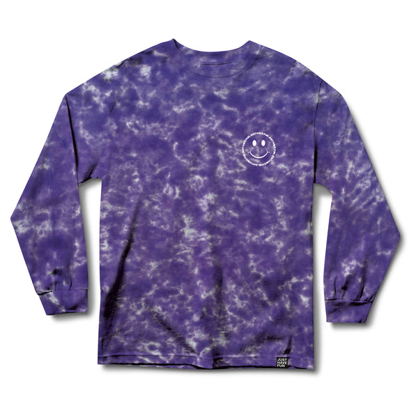Have A Nice Day L/S Tee Purple Tie Dye