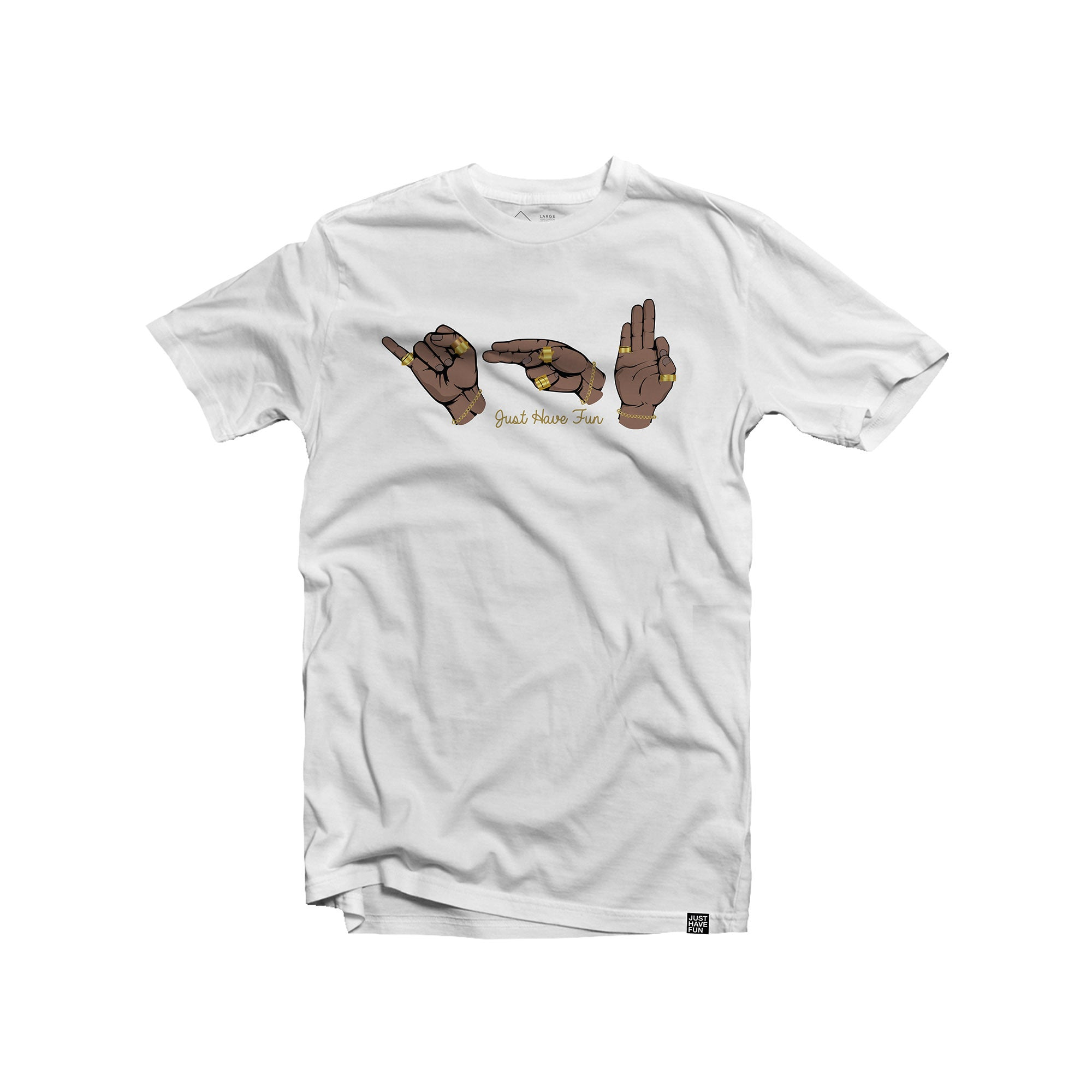 Sign Language Tee White