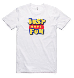 Just Have Fun Toy Story Logo T-Shirt (White)