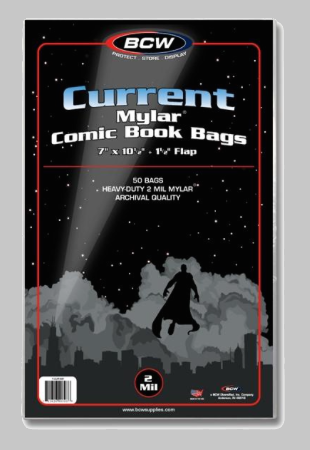 Current Mylar 2 Mil Comic Bags