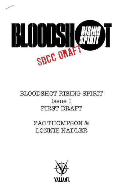 Bloodshot Rising Spirit (2018) #01 (SDCC Draft Edition)