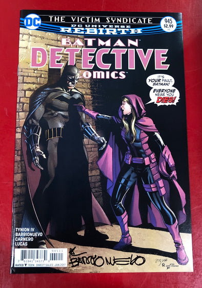 Detective Comics (2016) #0945 (Signed by Al Barrionuevo + COA)