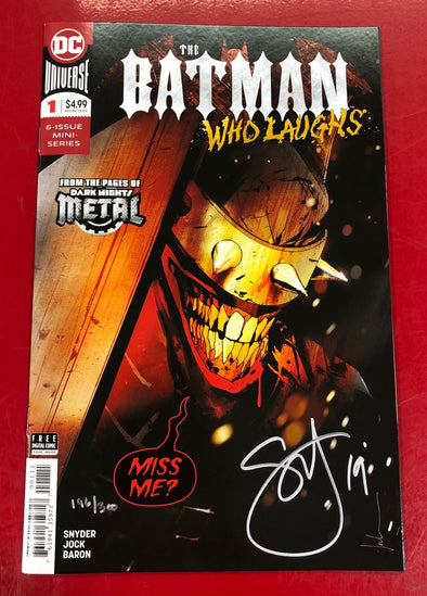 Batman Who Laughs (2018) #01 (DF Signed by Scott Snyder + COA)