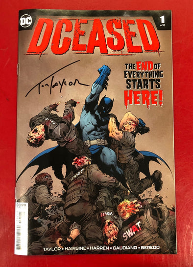 DCeased (2019) #01 (of 6) (Signed by Tom Taylor + COA)