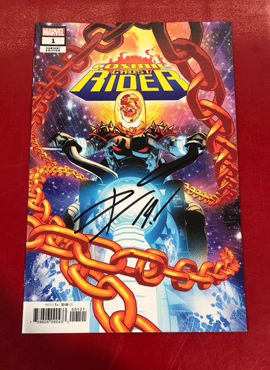 Cosmic Ghost Rider (2018) #01 (Mike Deodato Variant Signed by Donny Cates + COA)