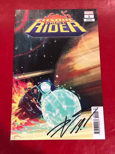 Cosmic Ghost Rider (2018) #01 (Stephanie Hans Variant Signed by Donny Cates + COA)