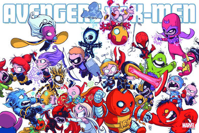 Avengers vs X-Men Skottie Young Poster