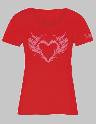 Saga Burning Heart Womens T-Shirt