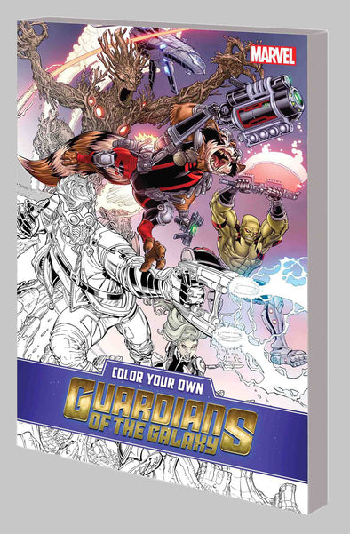 Colour Your Own Guardians of the Galaxy
