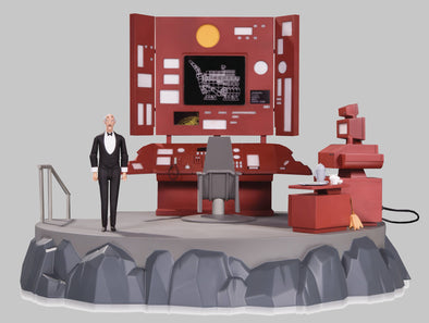 Batman Animated Series - The Batcave Play-Set with Alfred