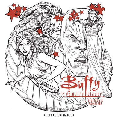 Buffy the Vampire Slayer Big Bads & Monsters Adult Colouring Book TP