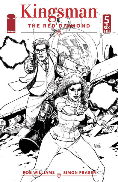 Kingsman: The Red Diamond (2017) #05 (B & W Variant)