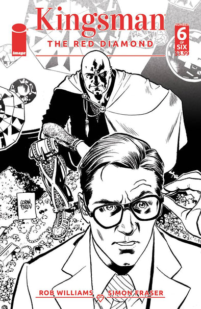 Kingsman: The Red Diamond (2017) #06 (B & W Variant)