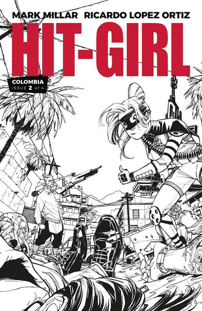 Hit-Girl (2018) #02 (B&W Variant)