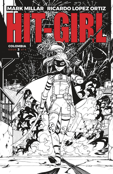 Hit-Girl (2018) #03 (B&W Variant)