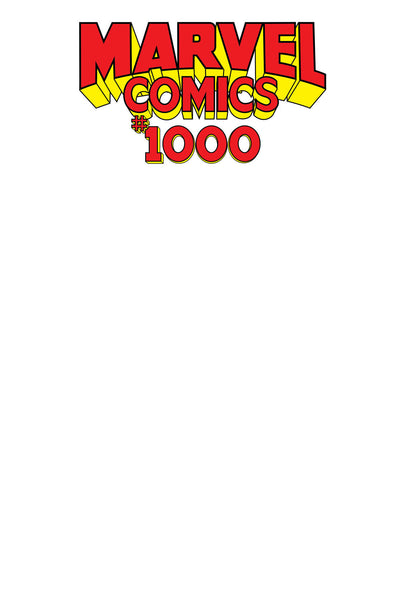 Marvel Comics (2019) #1000 (Blank Comic Variant)