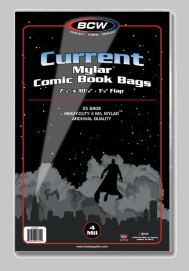 Current Mylar 4 Mil Comic Bags