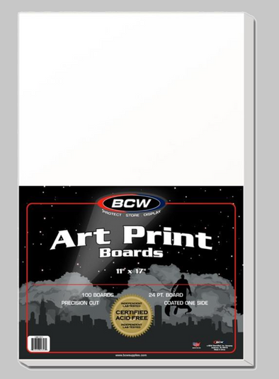 11x17 Art Print Boards