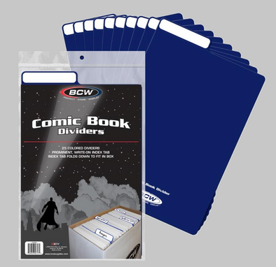 Comic Book Dividers - Blue