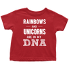 Rainbows and Unicorns - Toddler T-shirt