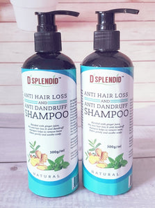 TWIN PACK: NATURAL ANTI HAIRLOSS AND ANTI DANDRUFF SHAMPOOS