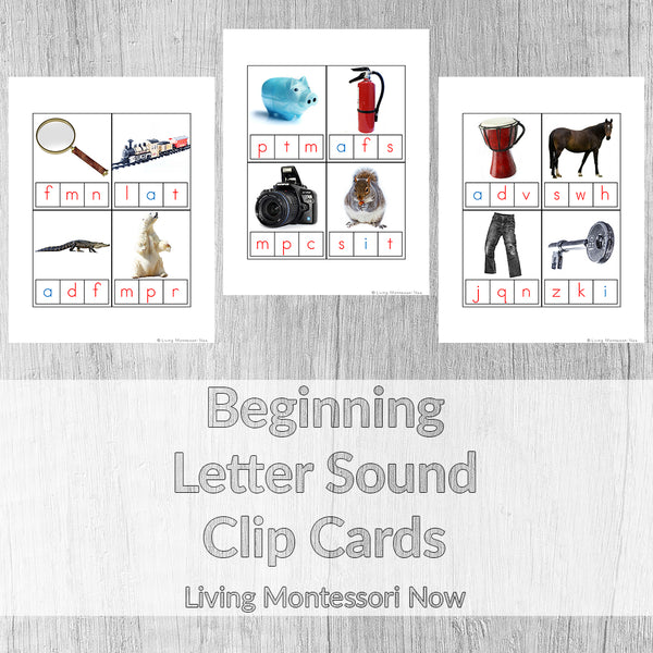 Beginning Letter Sound Clip Cards