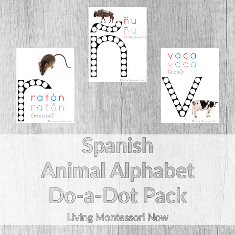 Spanish Animal Alphabet Do-a-Dot Pack