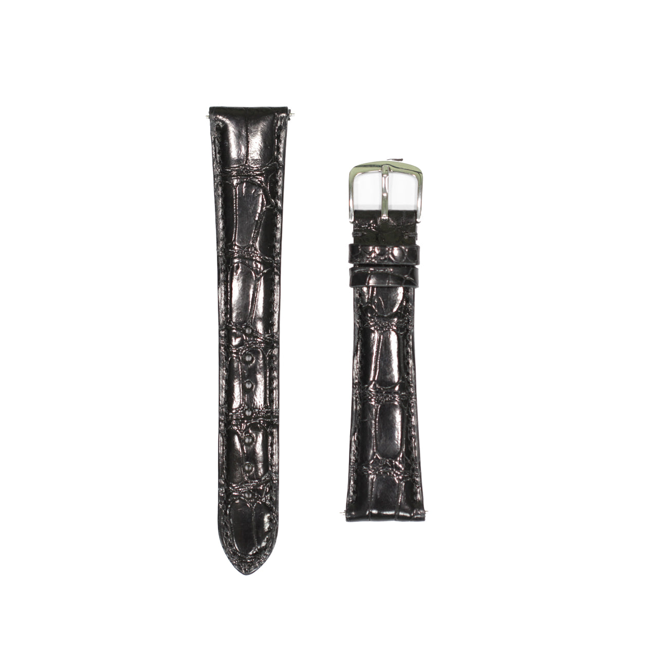 GMT Strap | Alligator | Black | Shiny | Long