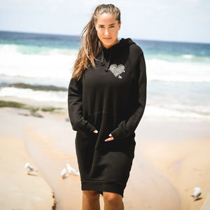 COMPASSIONATE Hoodie Sweater Dress - Black (Ladies)