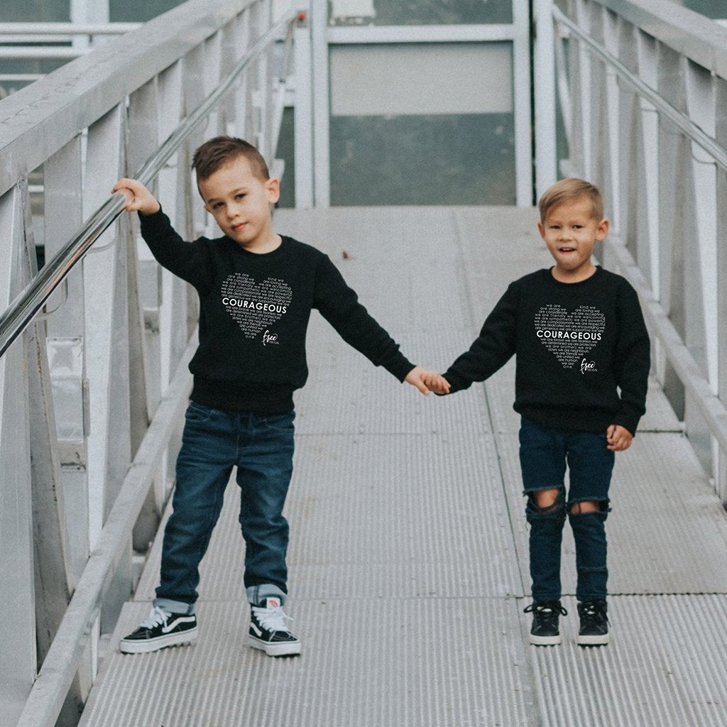 COURAGEOUS Crewneck Pullover - Black (Kids)
