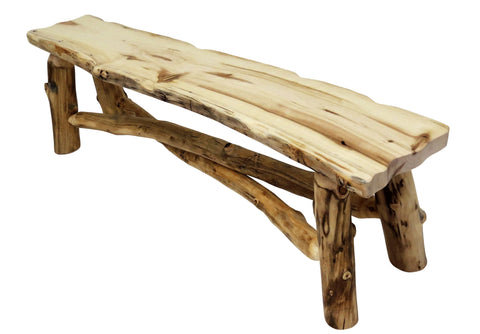 Aspen Grizzly 5u0027 Aspen Grizzly Bench   Wood Furniture Pro