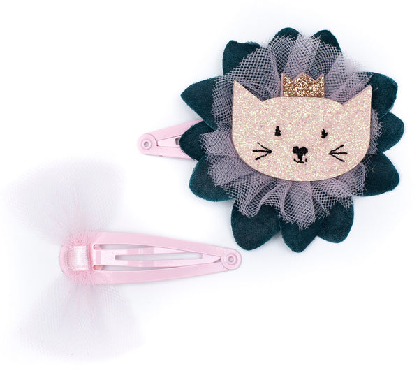 Springtime Cat Hair Clip Duo