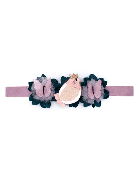 Springtime Bird & Butterfly Stretch Headband