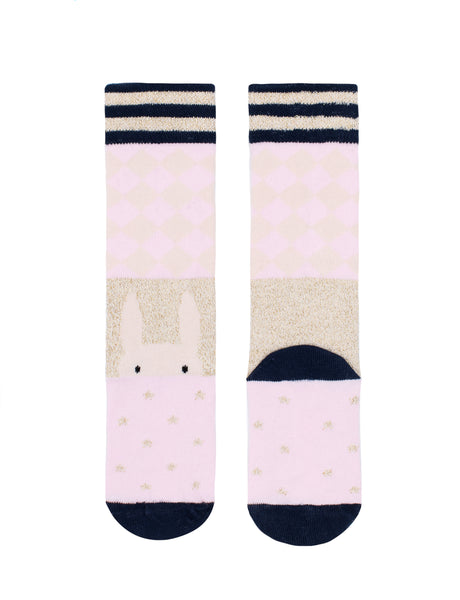 Harlequin Bunny Knee High Socks