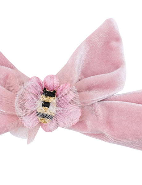 Bee Kind Velvet Tie Head Band