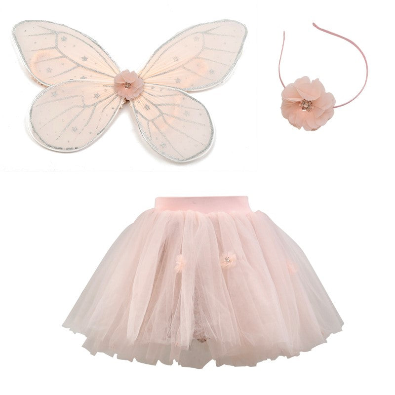 Flower Pink Tutu Layered Skirt with floral print lining - New Delivery Early Jan