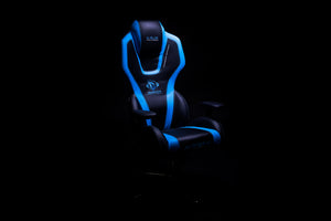 AUROZA PC GAMING CHAIR (BLACK/BLUE) - E-Blue Gaming