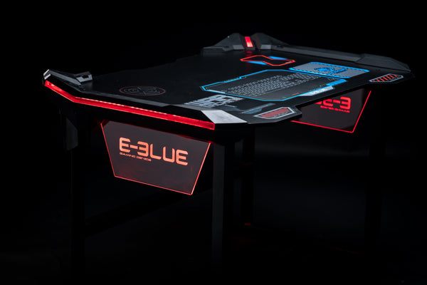AUROZA LED GAMING DESK - E-Blue Gaming